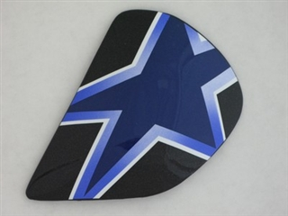 Arai Astral Star Flag Blue Side Pods