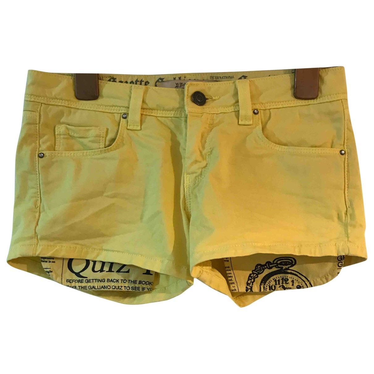 John Galliano \N Shorts in  Gelb Baumwolle