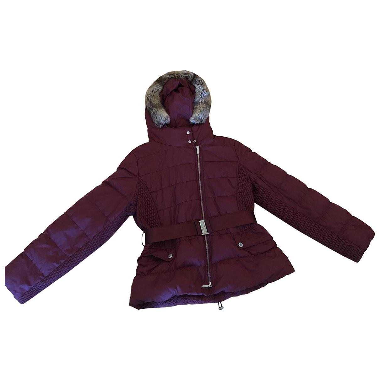 Karen Millen \N Burgundy Cotton coat for Women 12 US
