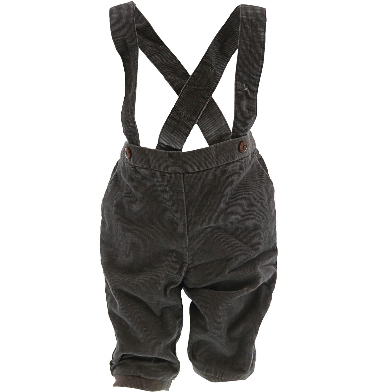 Janie And Jack Girl's Corduroy Suspender Pant Pants - 3-6 Months - Grey