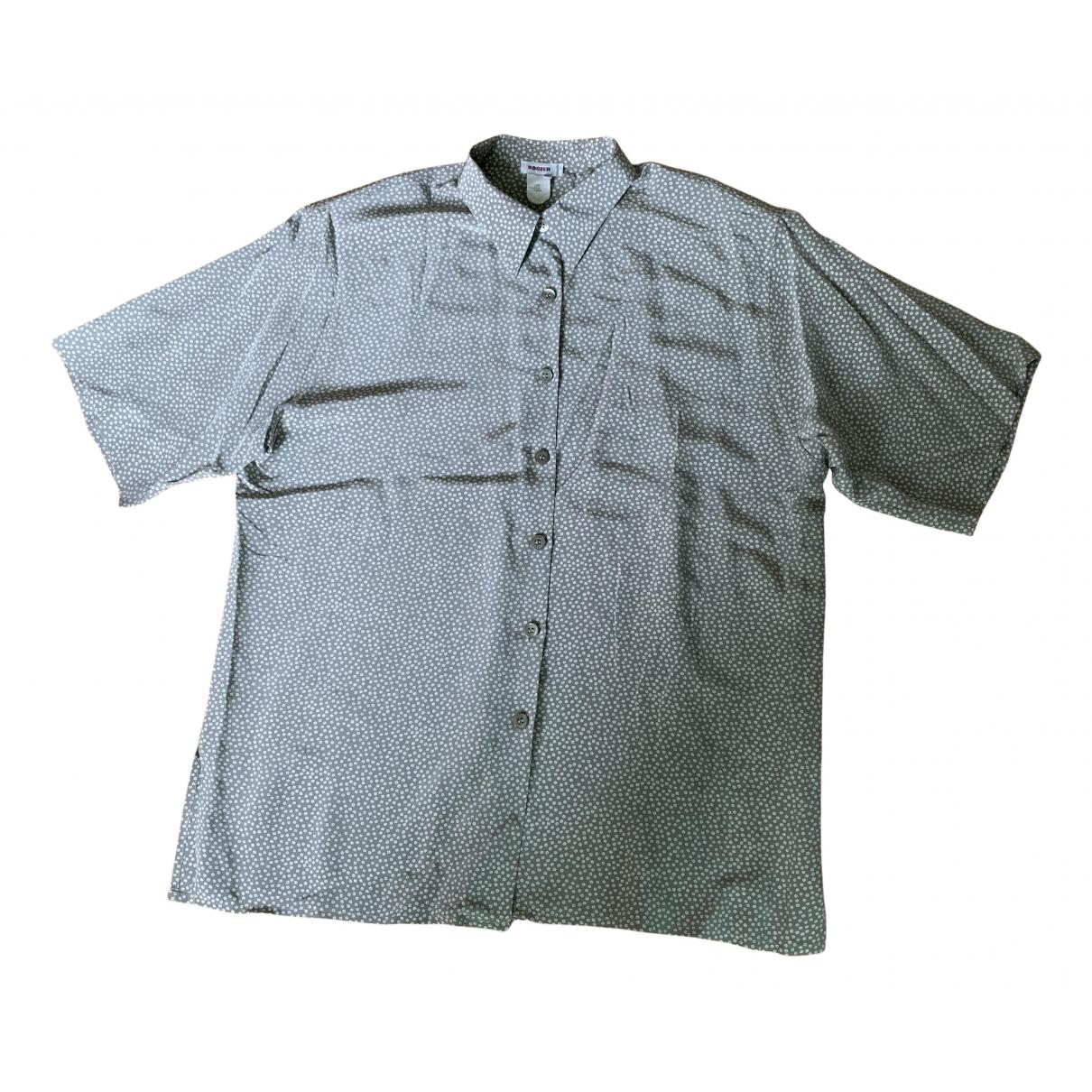 Rodier - Top   pour femme en soie - gris