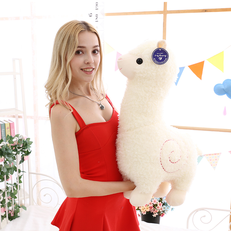 White Alpaca Stuffed Animal Plush Toy For Girlfriend Children Friends