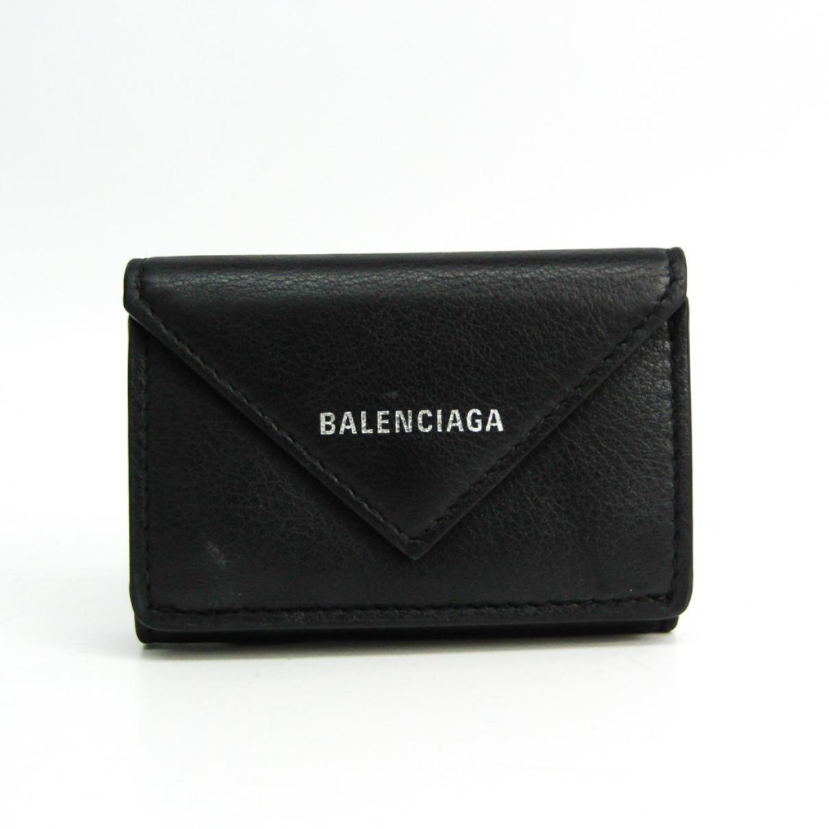 Balenciaga - Portefeuille   pour femme en cuir - noir