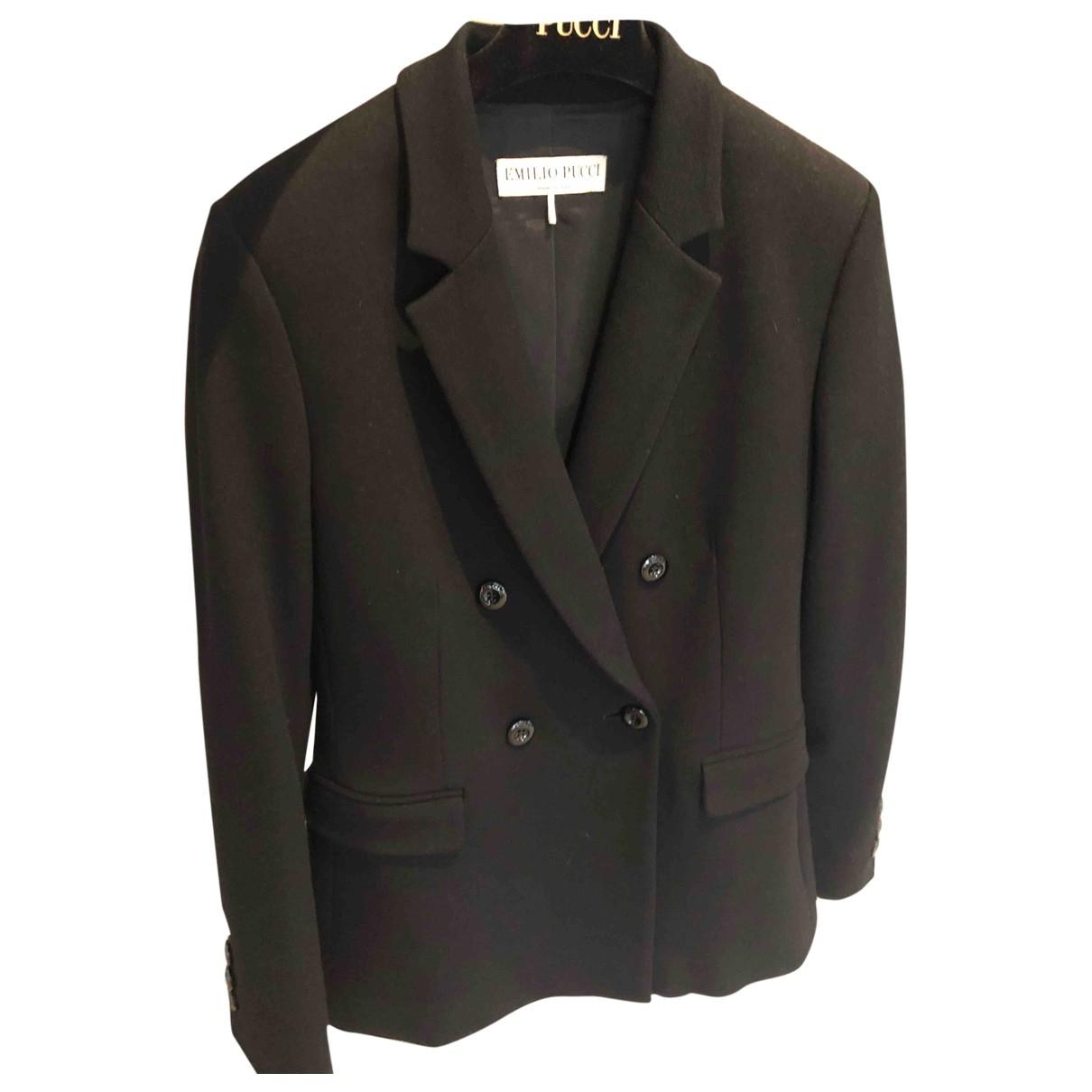Emilio Pucci \N Black jacket for Women 36 IT