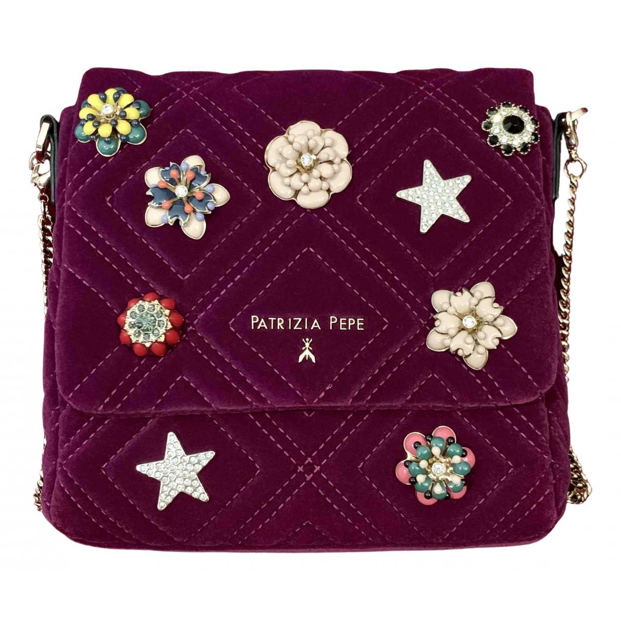 Patrizia Pepe \N Handtasche in  Lila Samt