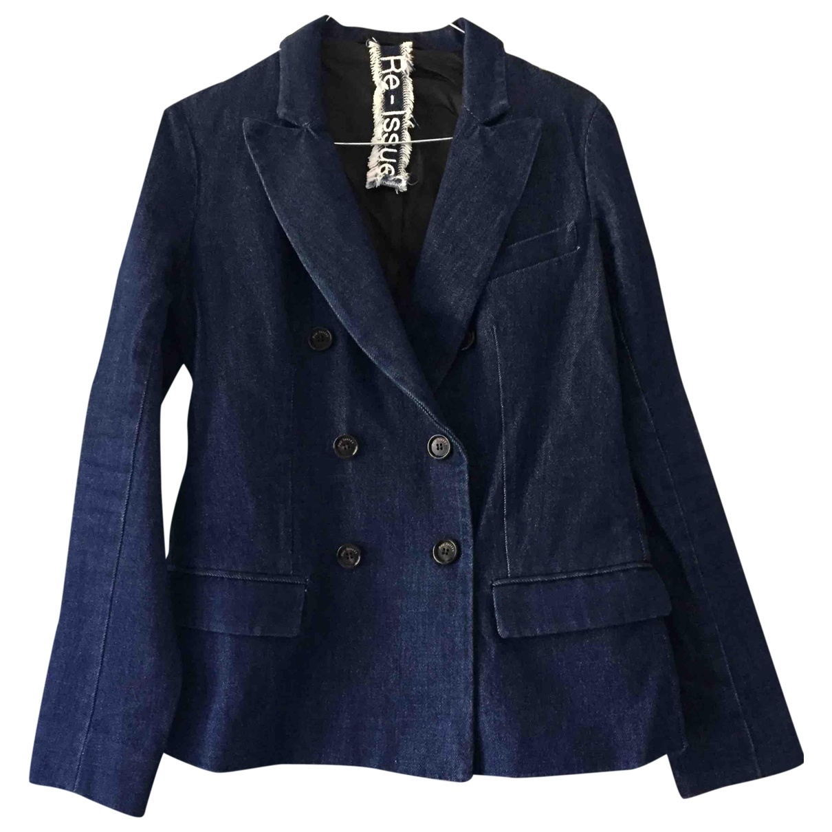 Non Signé / Unsigned \N Blue Cotton jacket for Women 40 IT