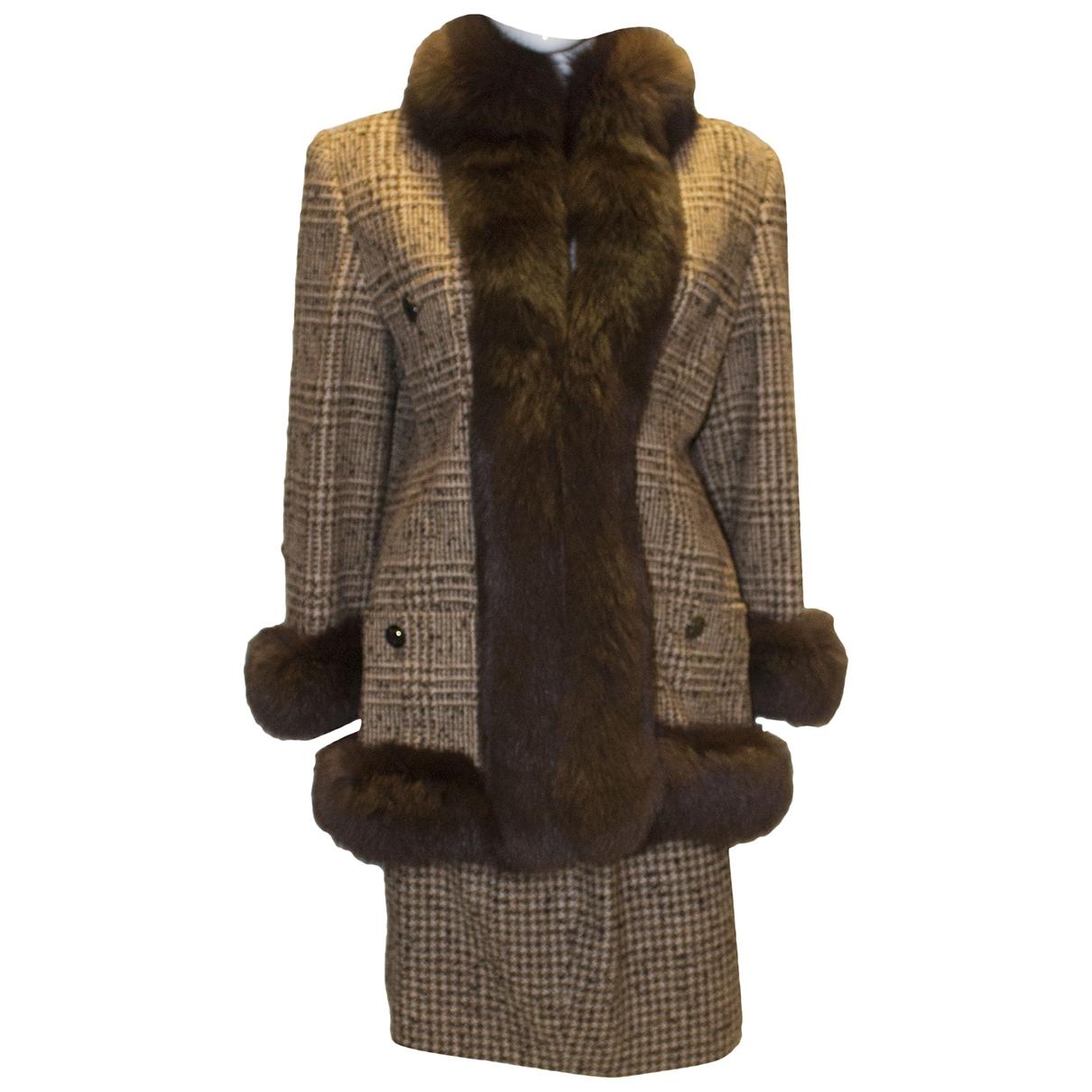 - Veste   pour femme en renard - marron
