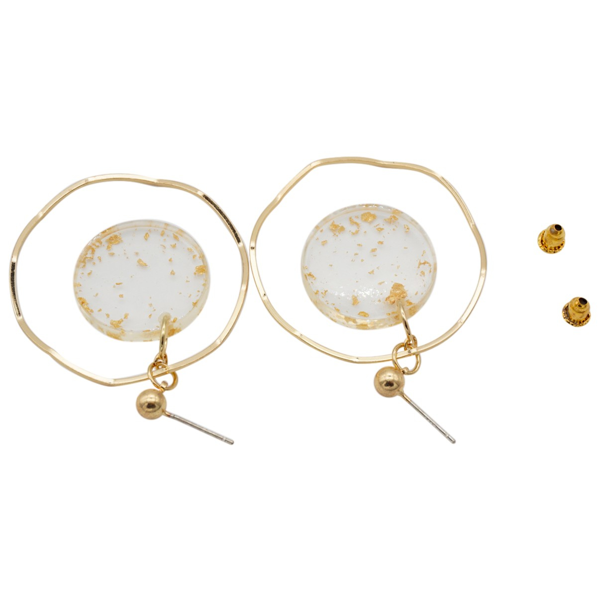 Non Signé / Unsigned Créoles Gold Metal Earrings for Women N