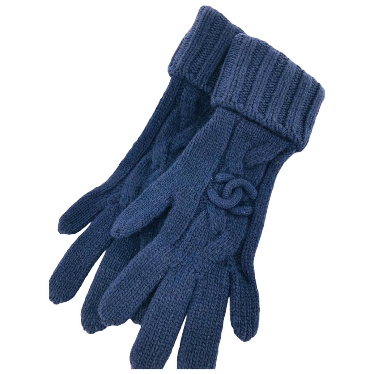 Chanel \N Handschuhe in  Blau Wolle