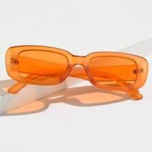 Studded Decor Rimless Sunglasses