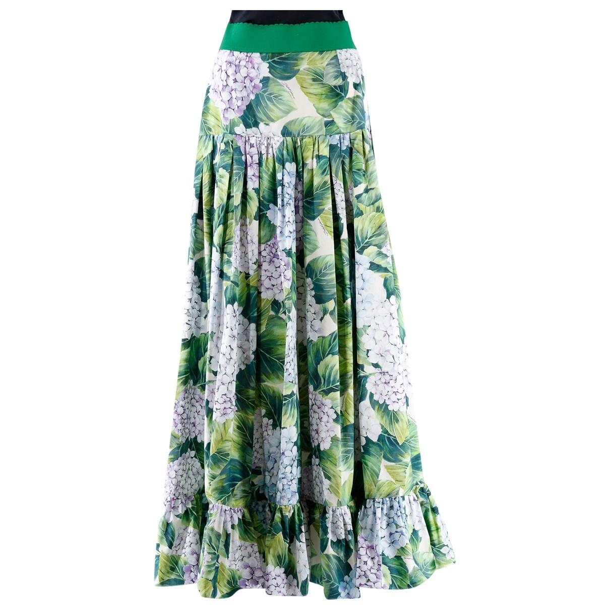 Dolce & Gabbana - Jupe   pour femme en coton - vert