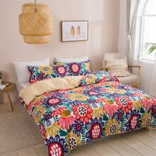 Sunflower Print Bedding Set Without Filler