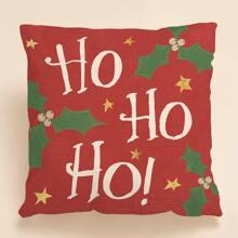 Weihnachten Kissenbezug mit Buchstaben Grafik ohne Fuellsstoff