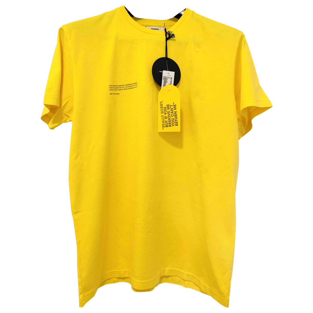 The Pangaia \N Yellow Cotton T-shirts for Men S International