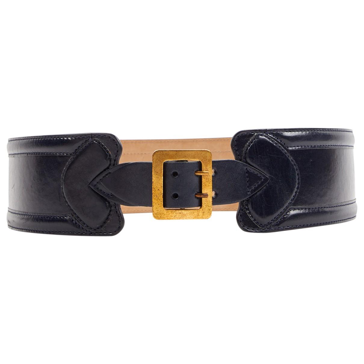 Alexander Mcqueen \N Blue Leather belt for Women 80 cm