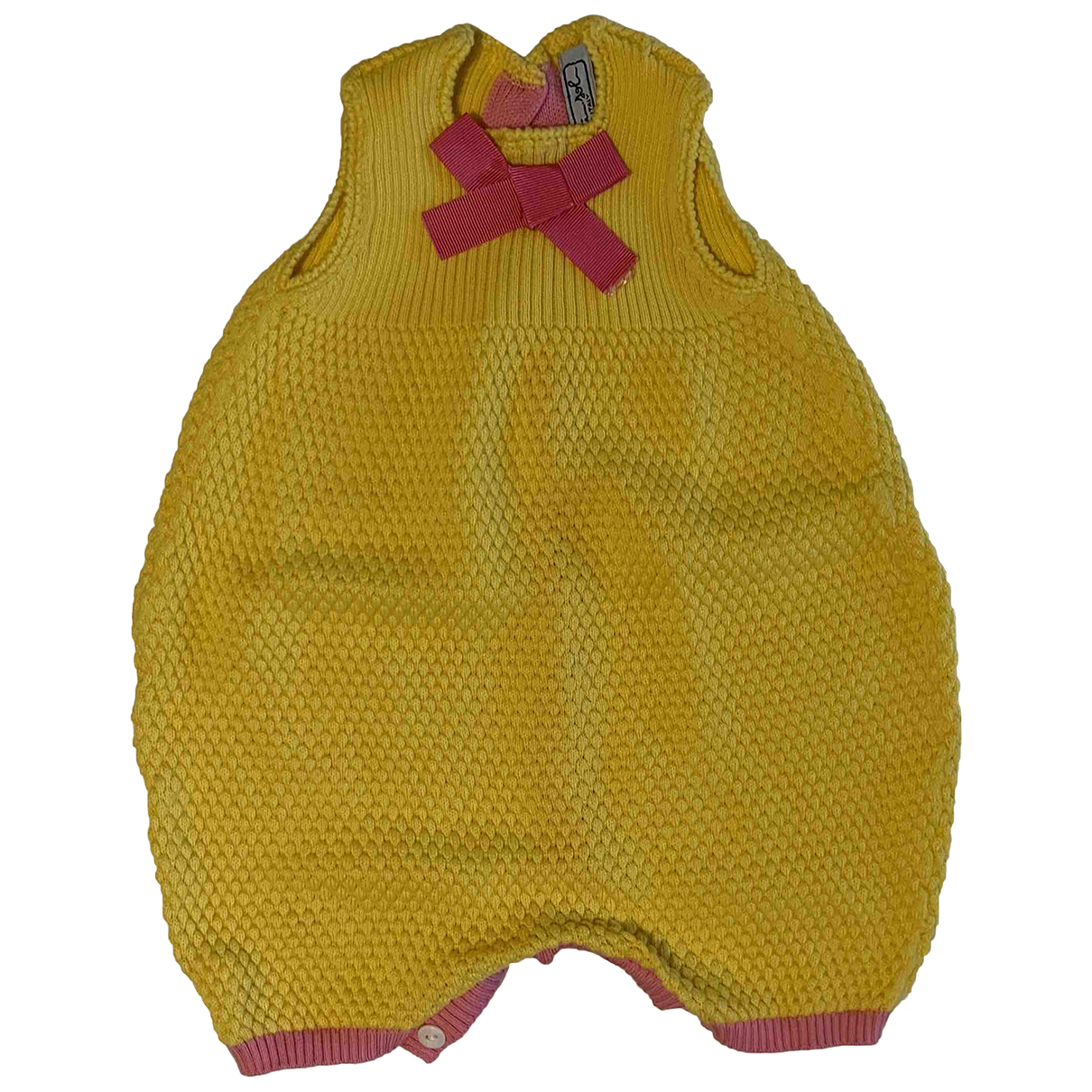 - Robe    pour enfant en coton - jaune