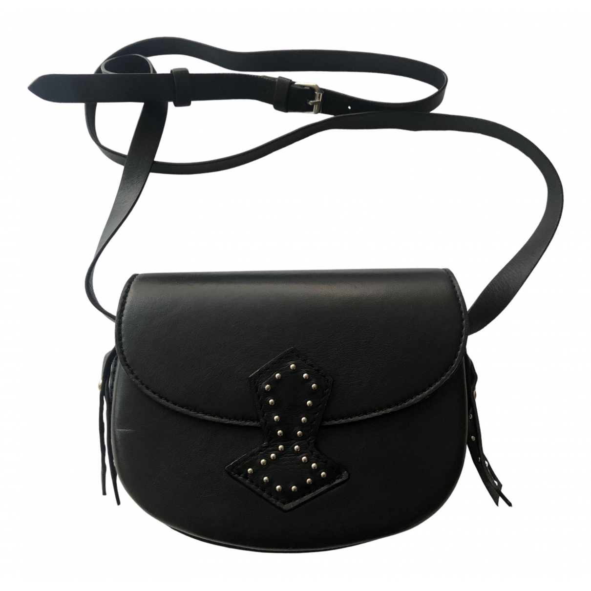 Antik Batik N Black Leather handbag for Women N