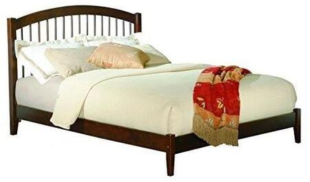 Windsor Collection AP9441034 Queen Size Traditional Bed with Slat Design Arching Headboard  Tapered Legs  Foundation Support Boards and Eco-Friendly