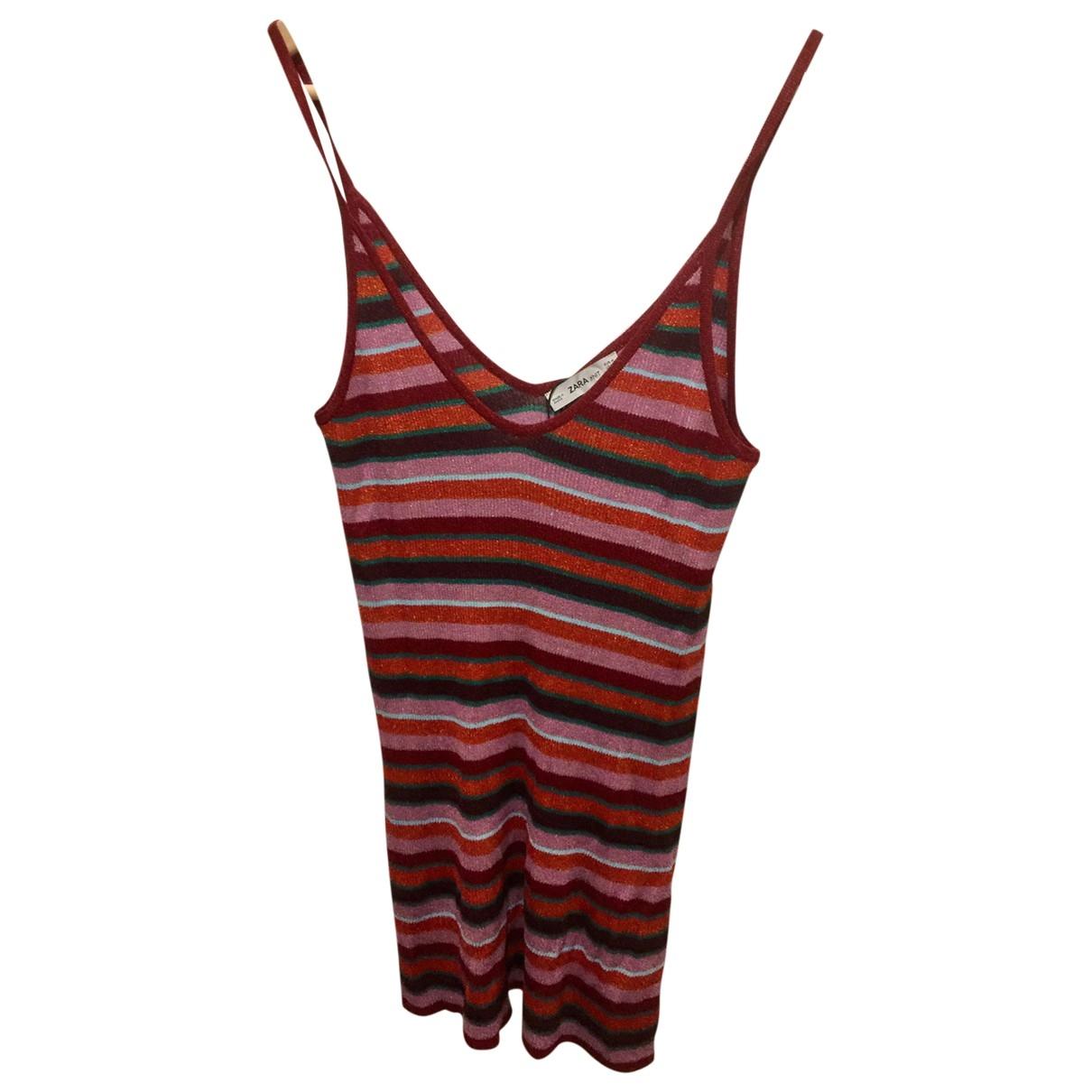 Zara \N Kleid in  Metallic Viskose