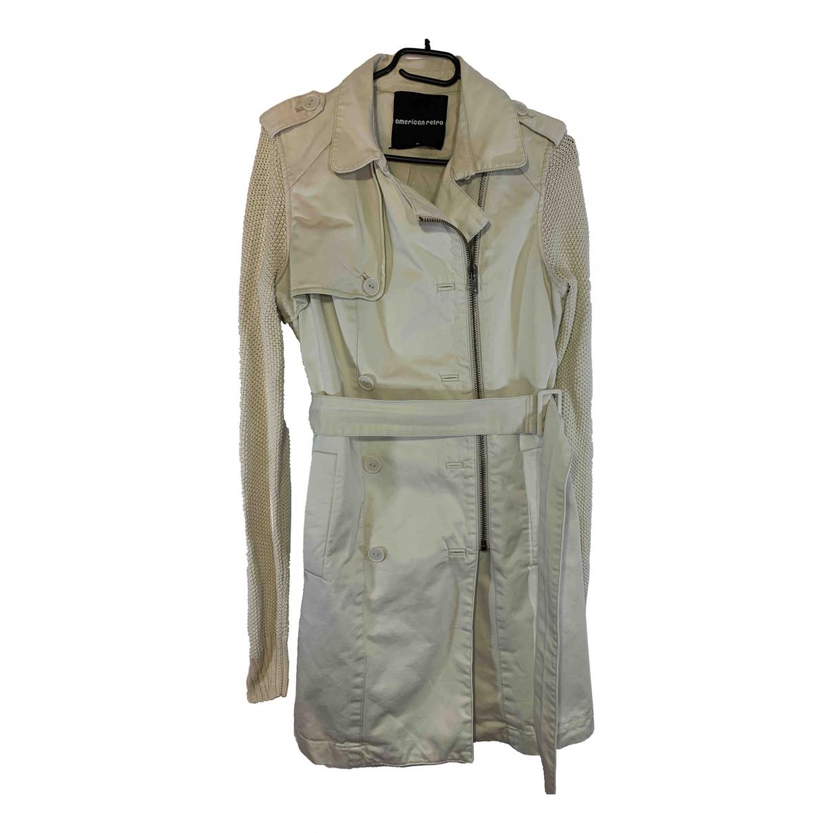 American Retro - Manteau   pour femme en coton - beige