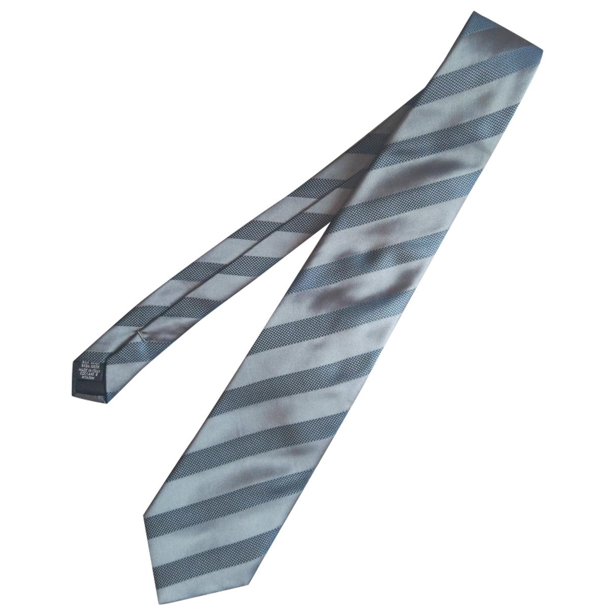 Hugo Boss - Cravates   pour homme en soie - bleu