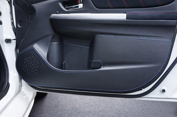 Revel 1TR5GDAS01B GT Design Kick Panel Cover with Blue Stitch Subaru WRX | STI 16-19