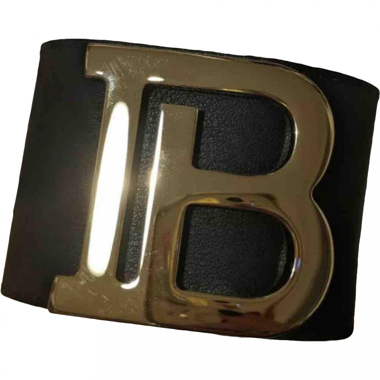 Balmain \N Armband in  Schwarz Leder