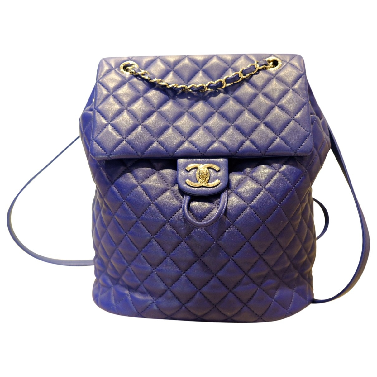 Chanel \N Blue Leather backpack for Women \N