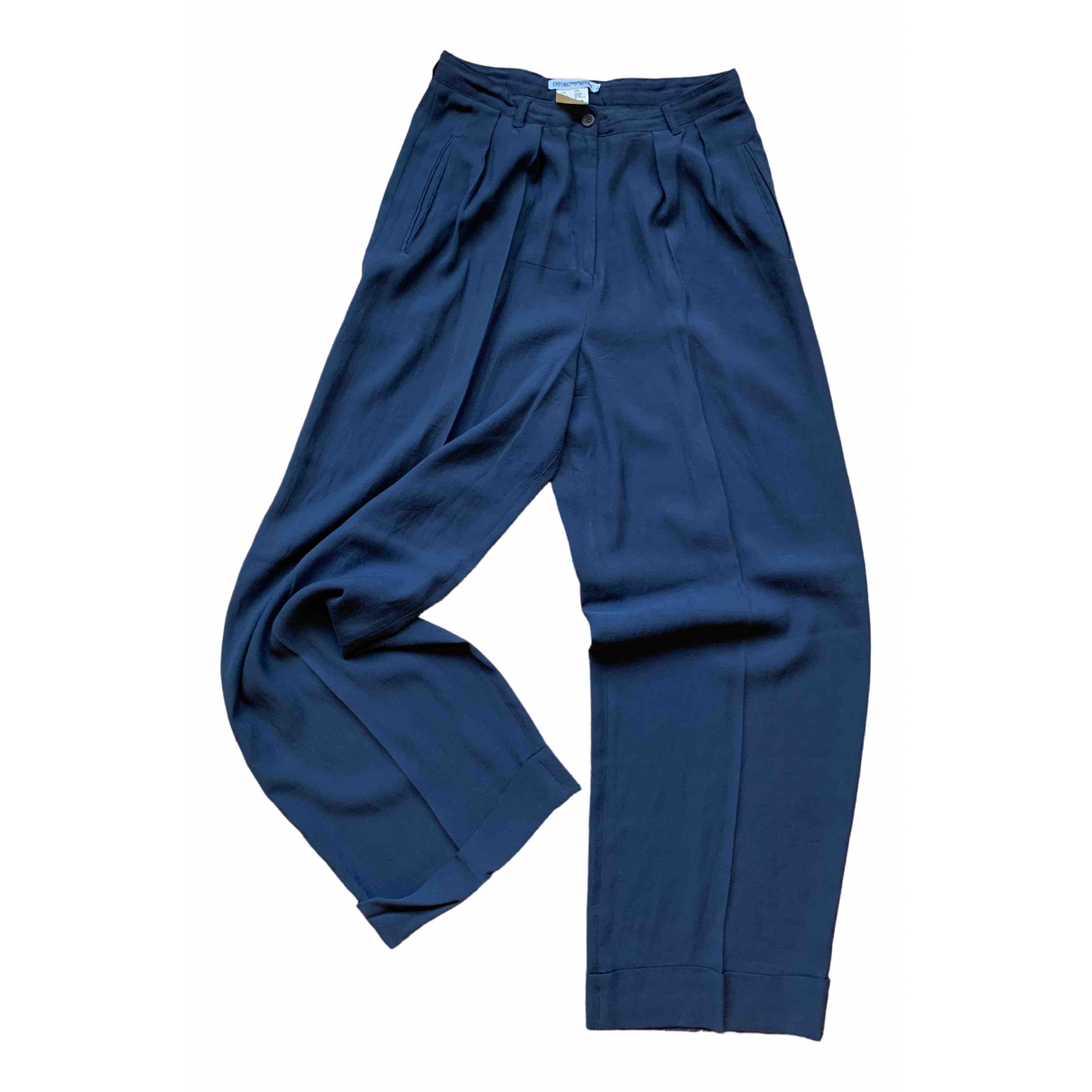 Emporio Armani \N Blue Trousers for Women 44 IT