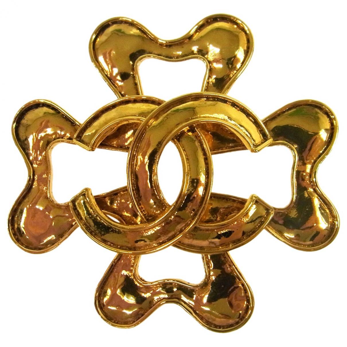 Chanel - Broche CC pour femme en metal