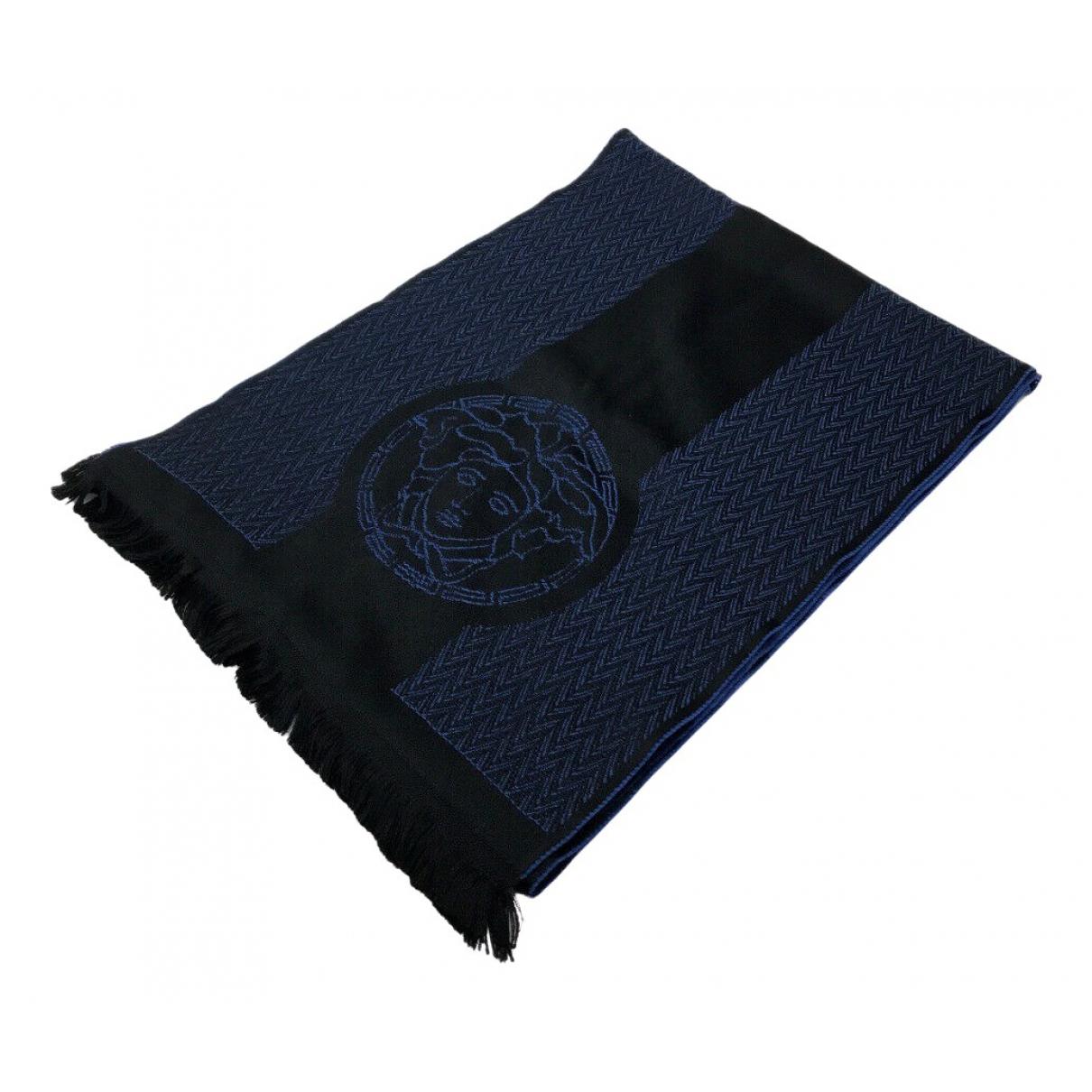 Versace N Blue Wool scarf for Women N