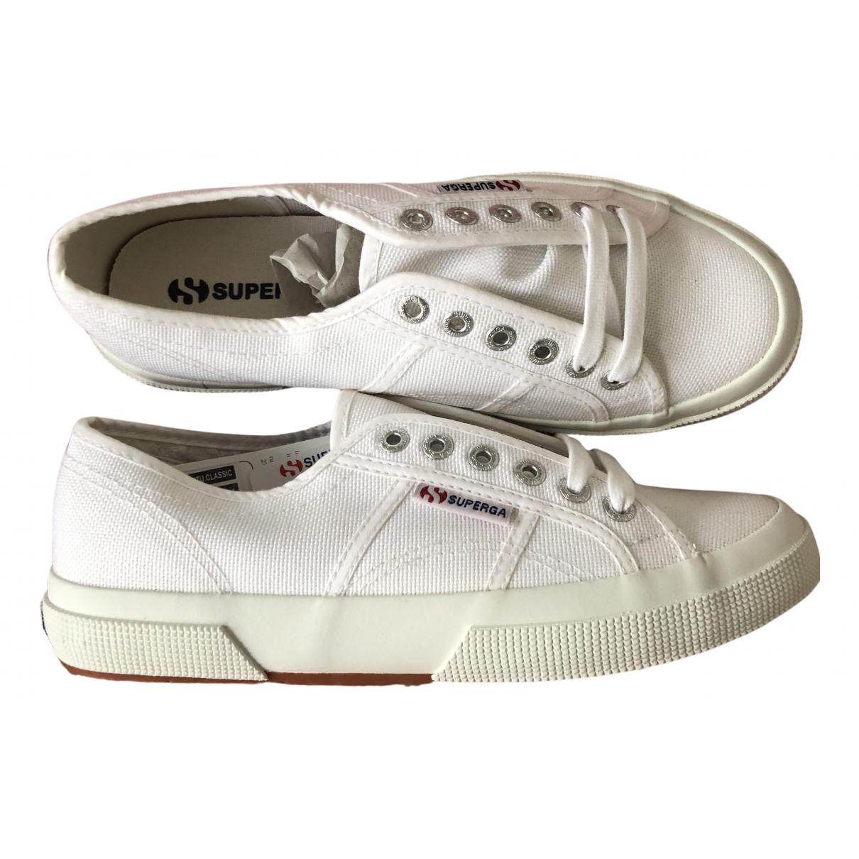 Superga N White Cloth Trainers for Women 39 EU