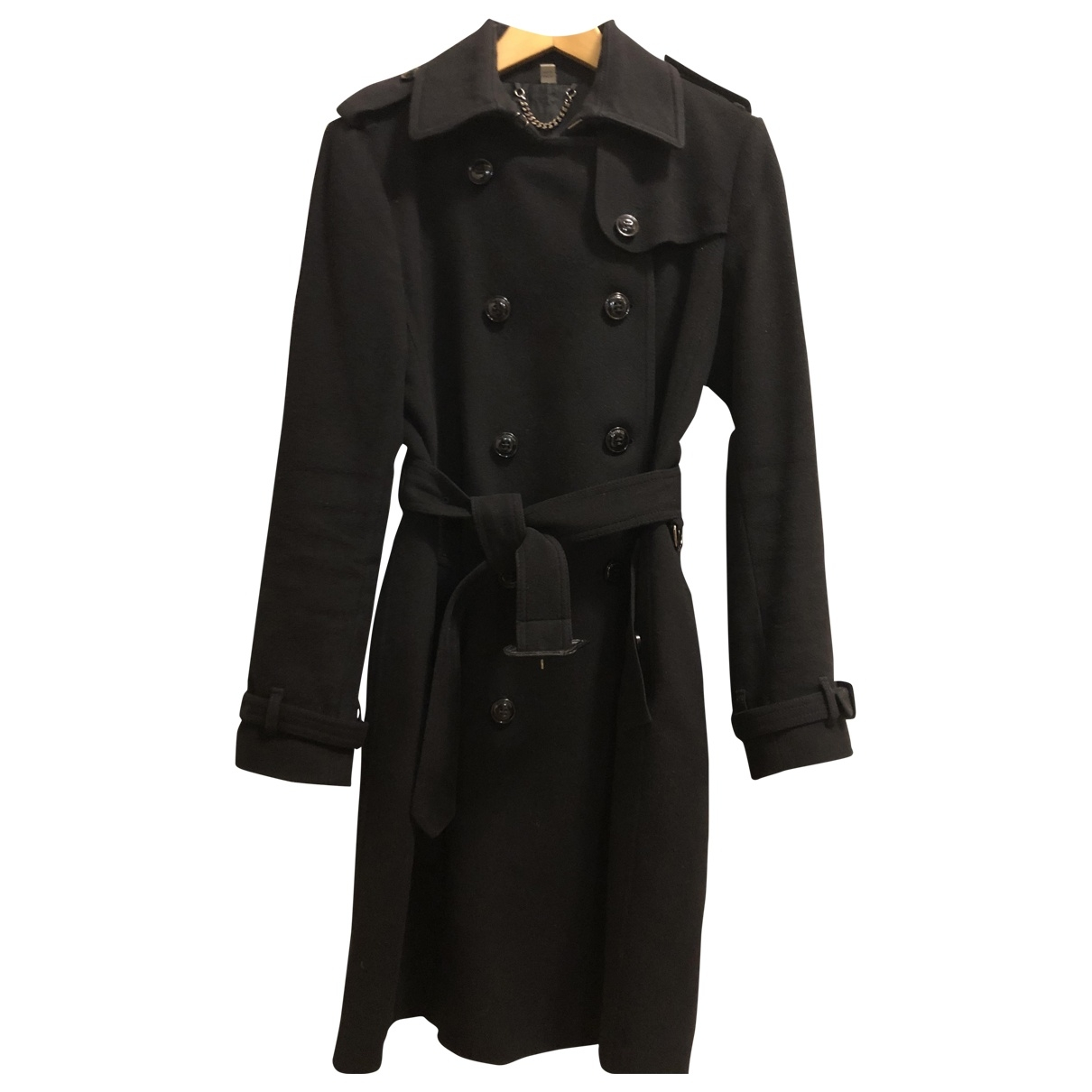 Burberry \N Trench in  Schwarz Wolle