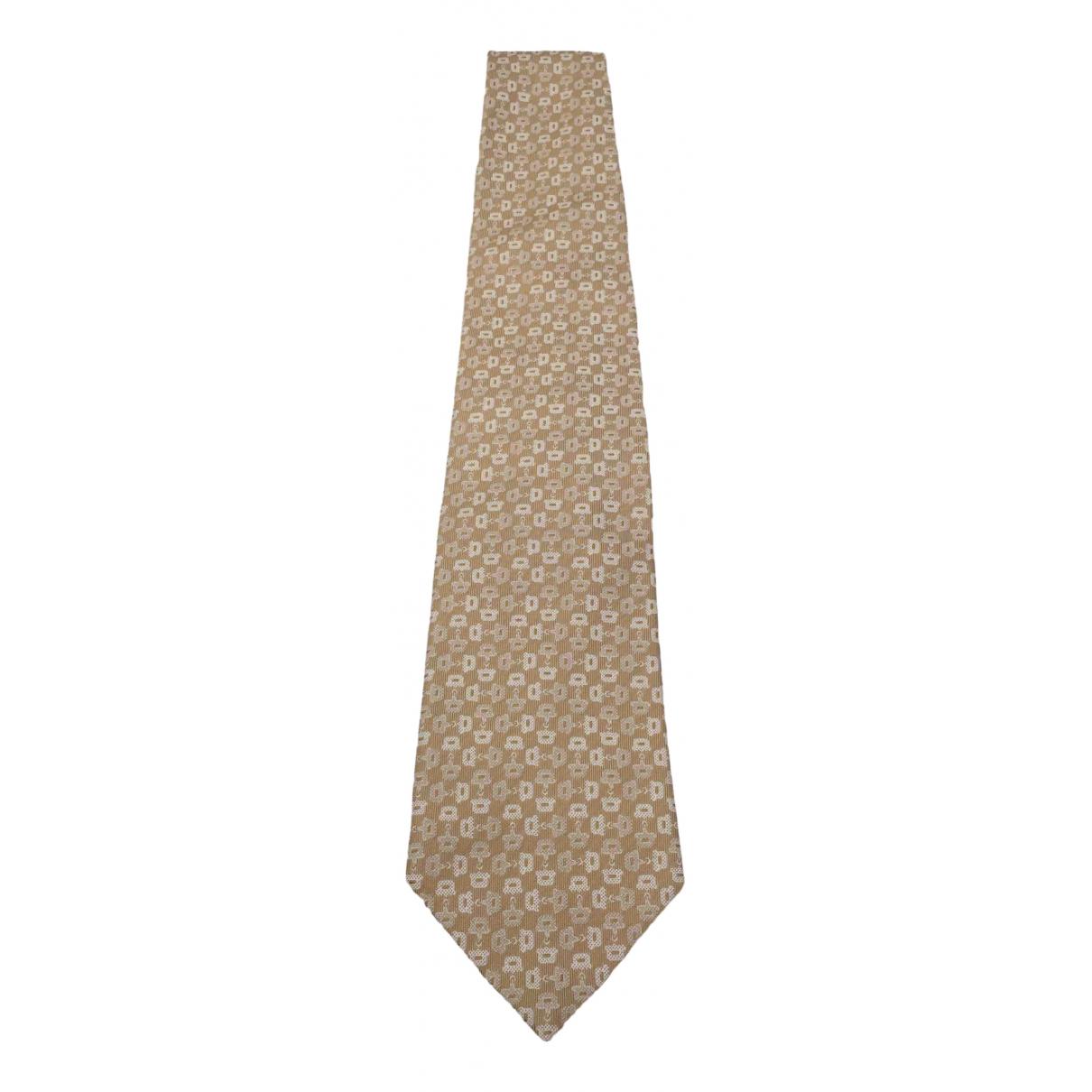 Gucci - Cravates   pour homme en soie - camel