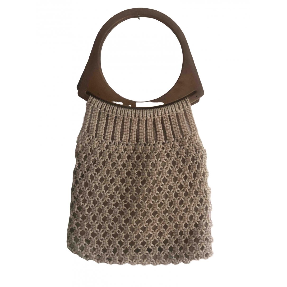 Non Signé / Unsigned \N Ecru Cotton handbag for Women \N
