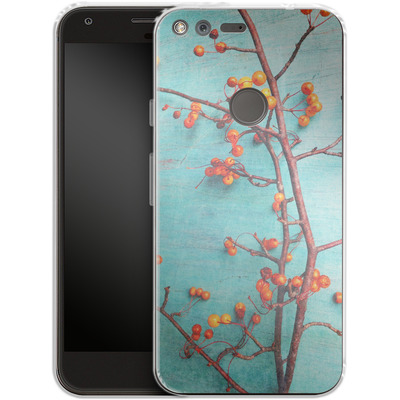 Google Pixel XL Silikon Handyhuelle - She Hung Her Dreams on Branches von Joy StClaire