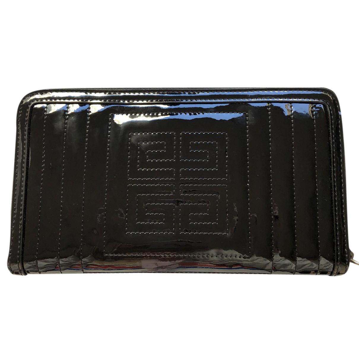 Givenchy - Portefeuille   pour femme en cuir verni - noir