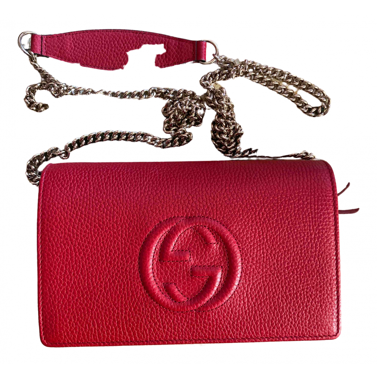 Gucci Soho Clutch in  Rot Leder