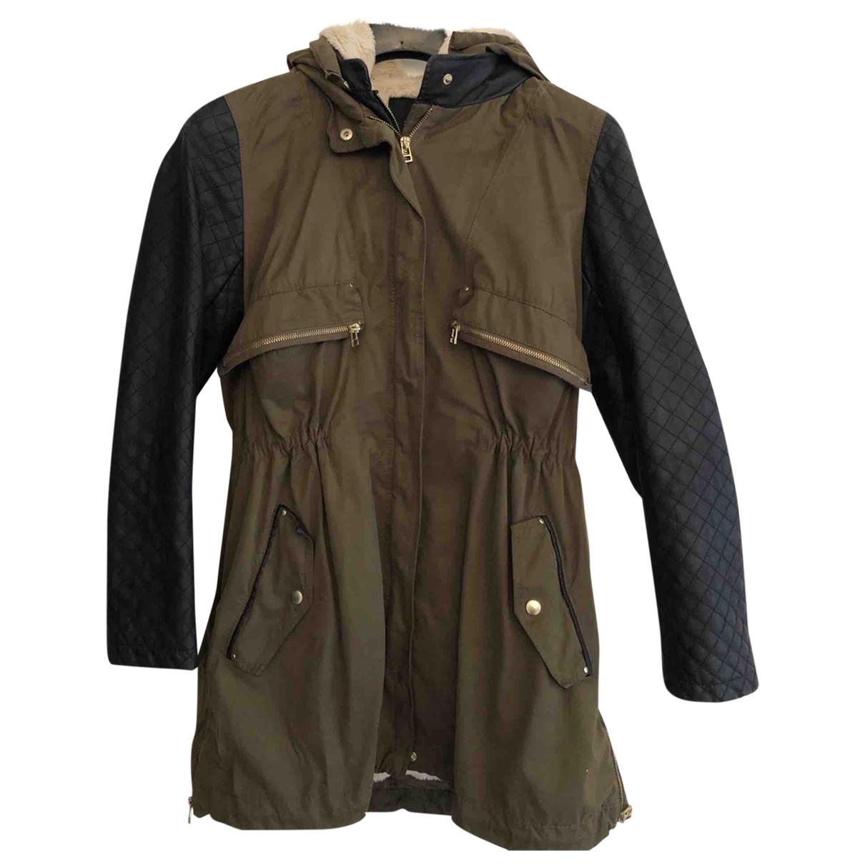 Zara \N Jacke in  Khaki Polyester