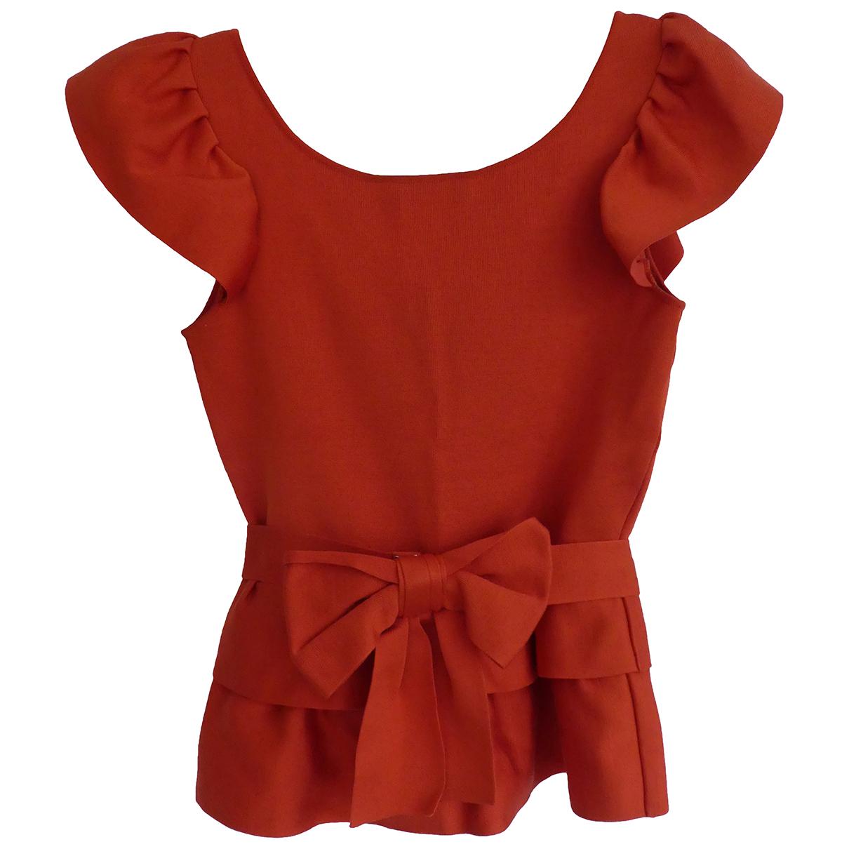 Dior - Top   pour femme en soie - orange