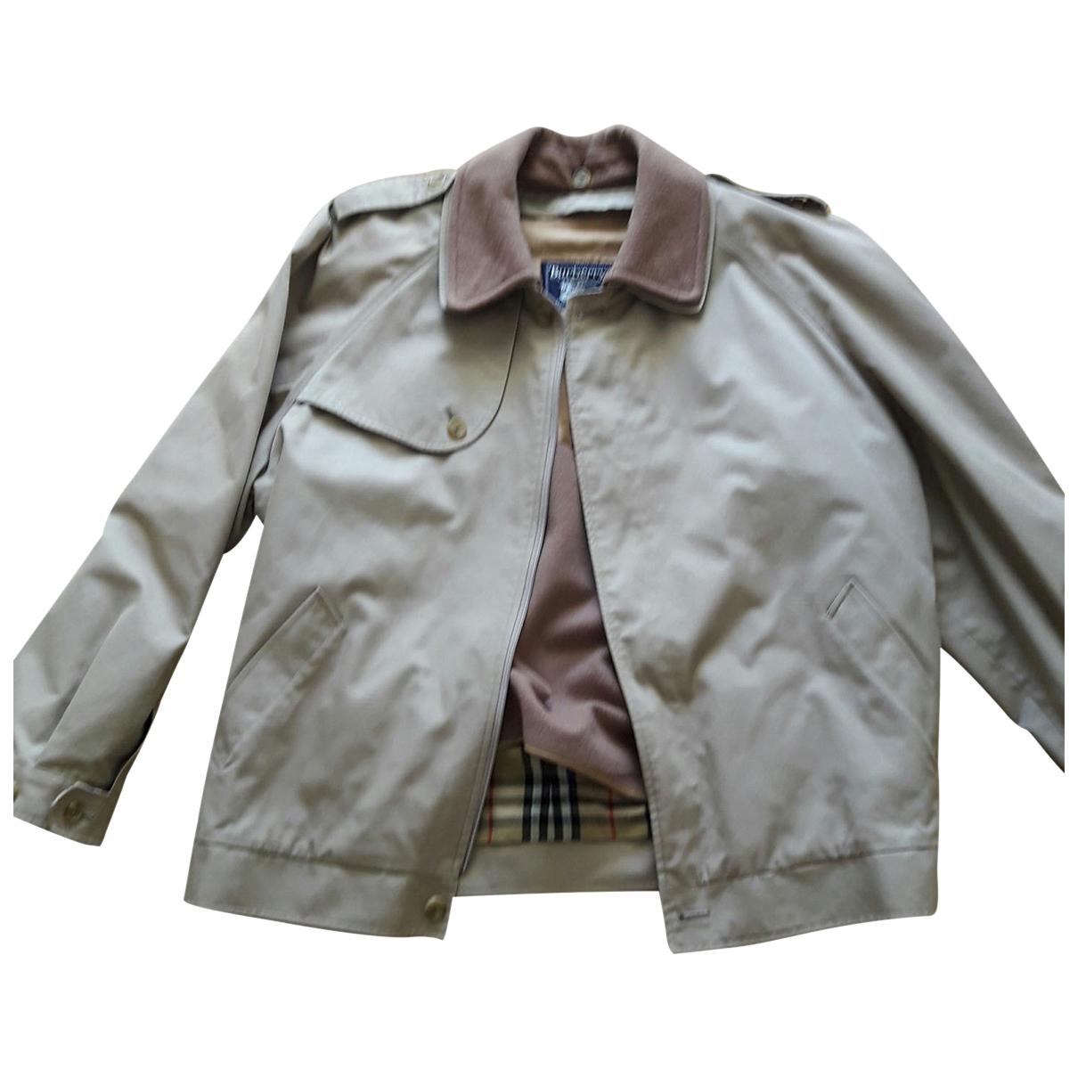 Burberry - Manteau   pour homme en coton - beige