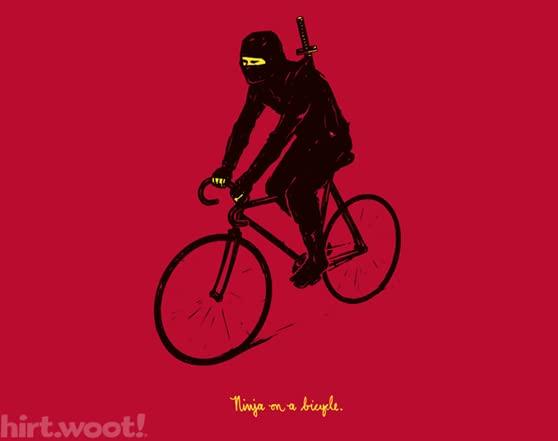 Ninja On A Bicycle T Shirt