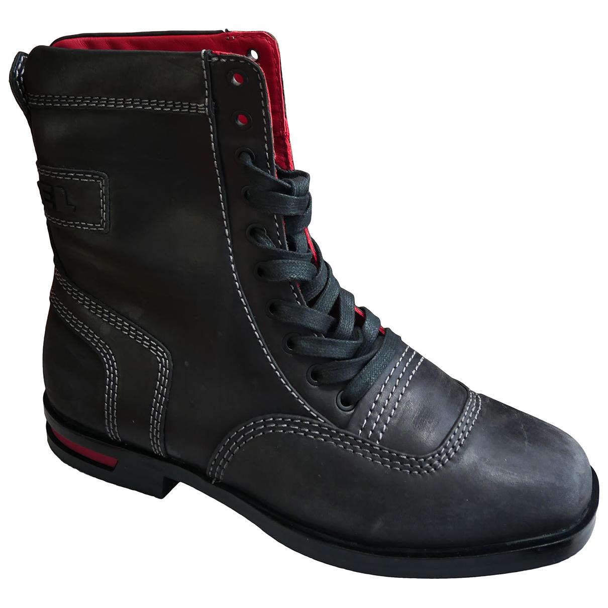 Diesel \N Stiefel in  Braun Leder
