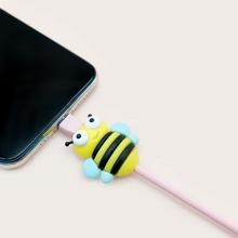 1 pieza protector de cable de dato en forma de abeja