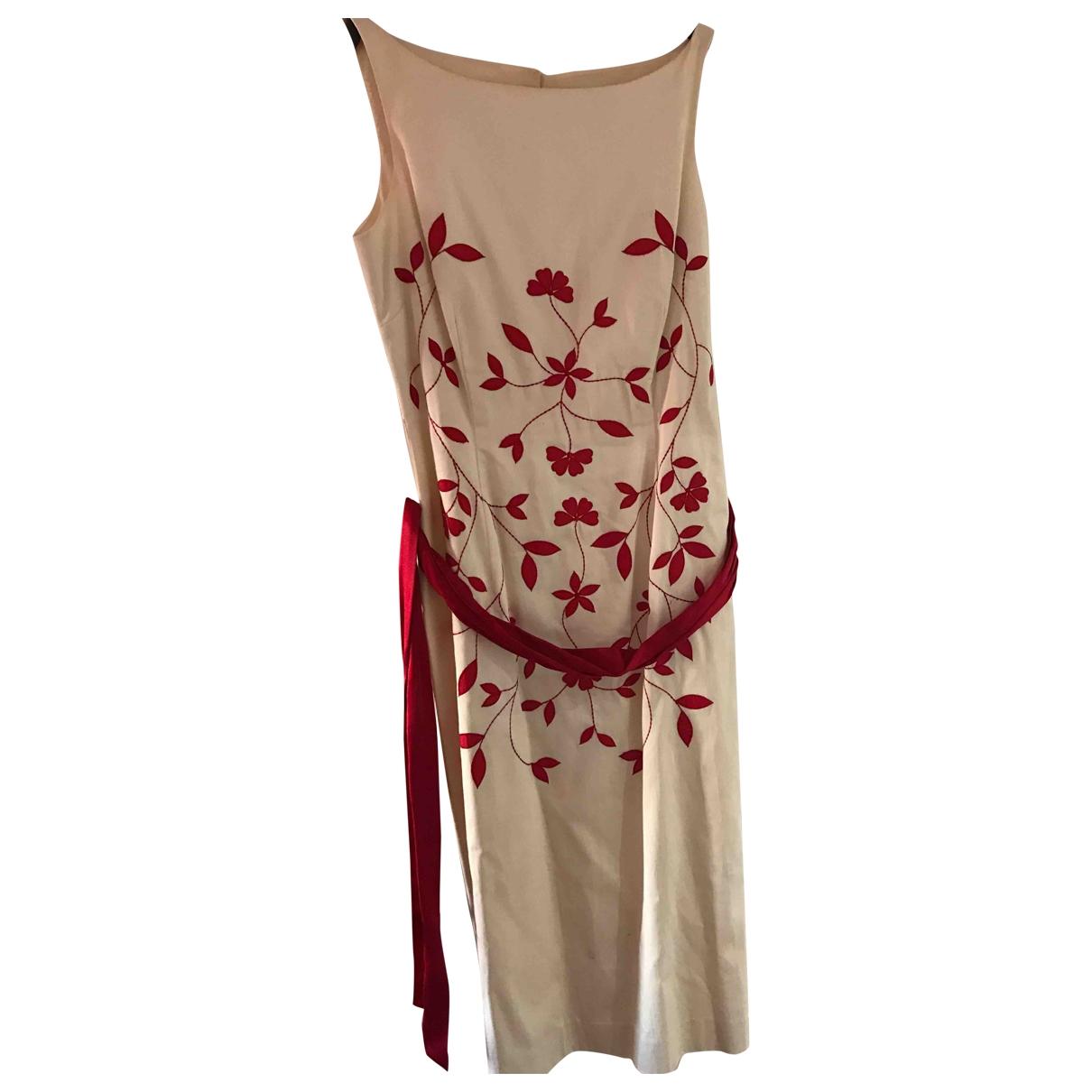 Coast \N Kleid in  Beige Baumwolle