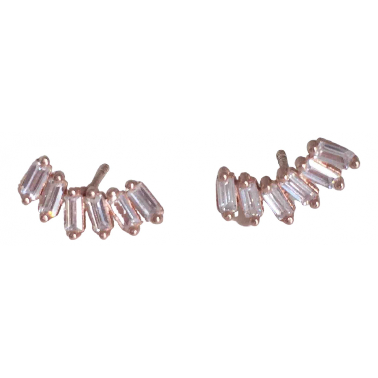 Non Signé / Unsigned N Pink Gold plated Earrings for Women N