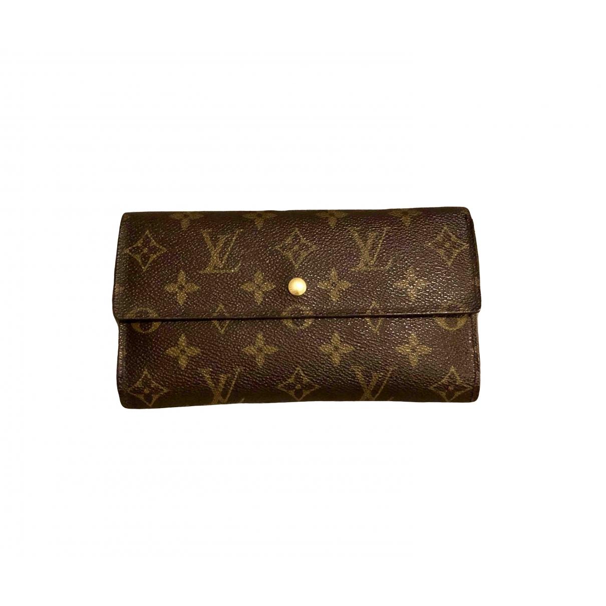 Louis Vuitton - Portefeuille Virtuose pour femme en toile - marron