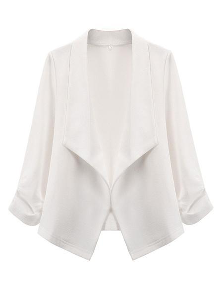 Milanoo Chaqueta de mujer elegante de manga larga de poliester chaqueta de calle