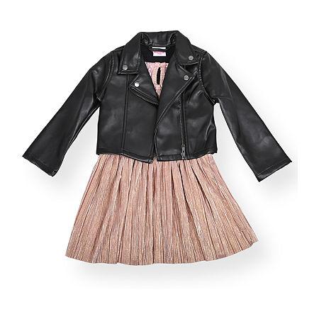 Nannette Baby Toddler Girls Sleeveless 2-pc. Dress Set, 3t , Black