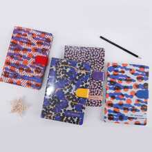 1pack Graphic Print Cover Random Notebook